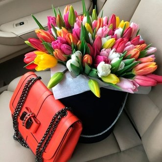 101 разноцветный тюльпан