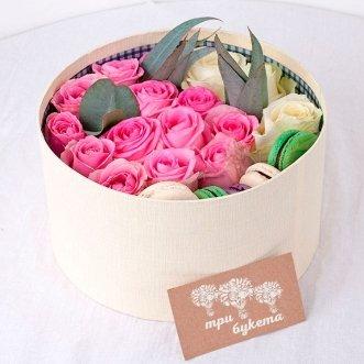 5 макарун с розами