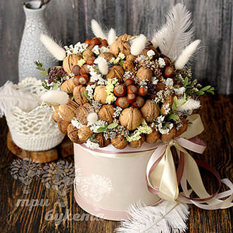 Орехи на новый год в коробке